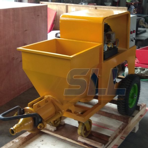 Cement mortar spraying machine